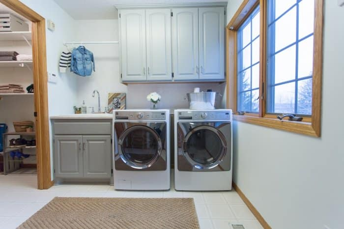 The After of Morgan and Jamie Molitor's Laundry Room Refresh Remodel