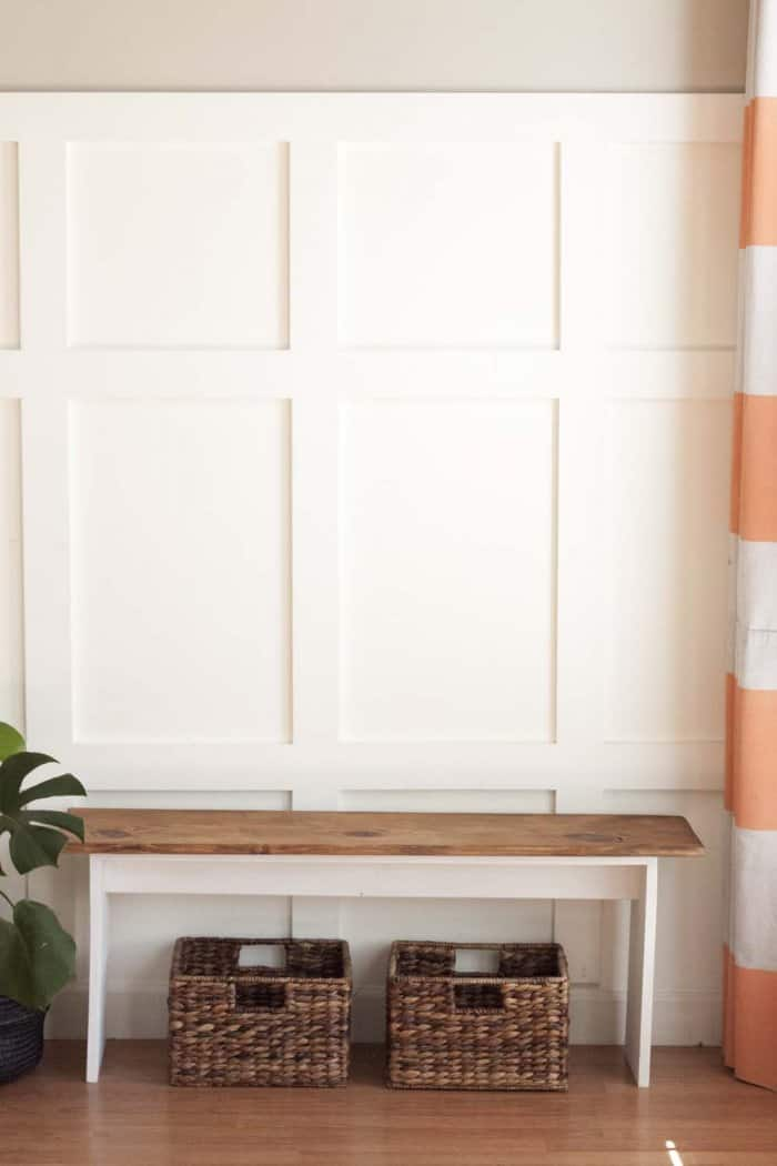 For a rustic look, add a piece of stained wood to the top with some wood glue. (Photo by Jamie Lott/Southern Revivals)