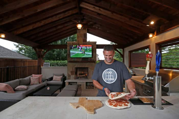 Jack Rutty's outdoor kitchen provided a great place to entertain family and friends. (Photo by Jae S. Lee)