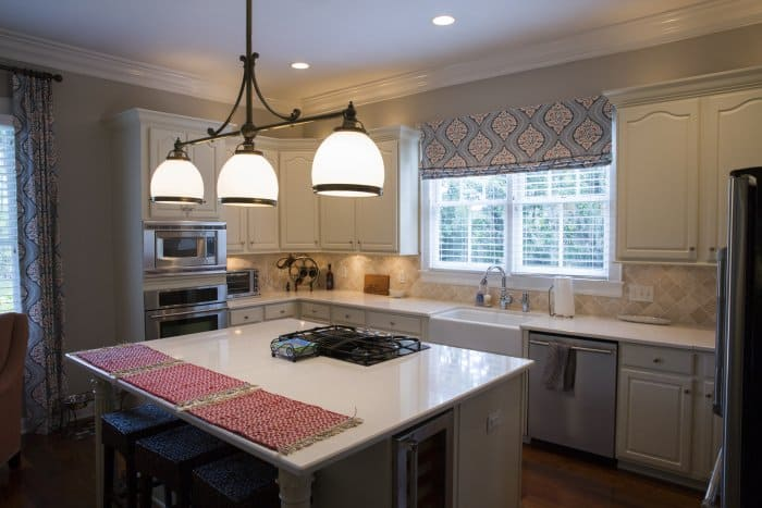 kitchen island with range