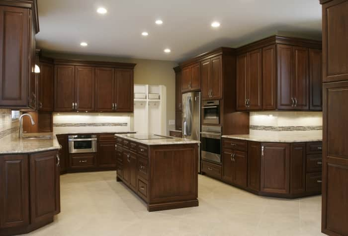 Kitchen remodel with built in refrigerator