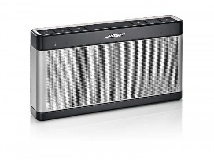 Product shot of a Bose SoundLink Bluetooth Speaker III.