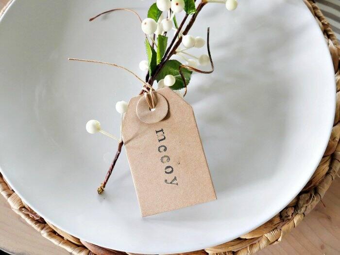 DIY napkin ring place setting