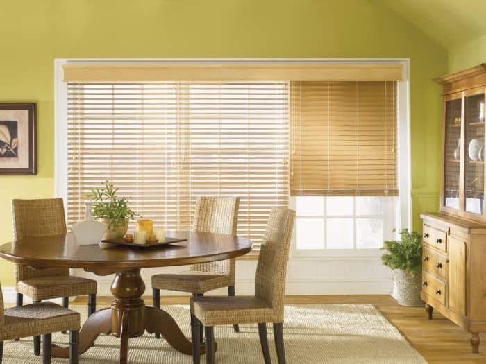 faux wood blinds window treatments