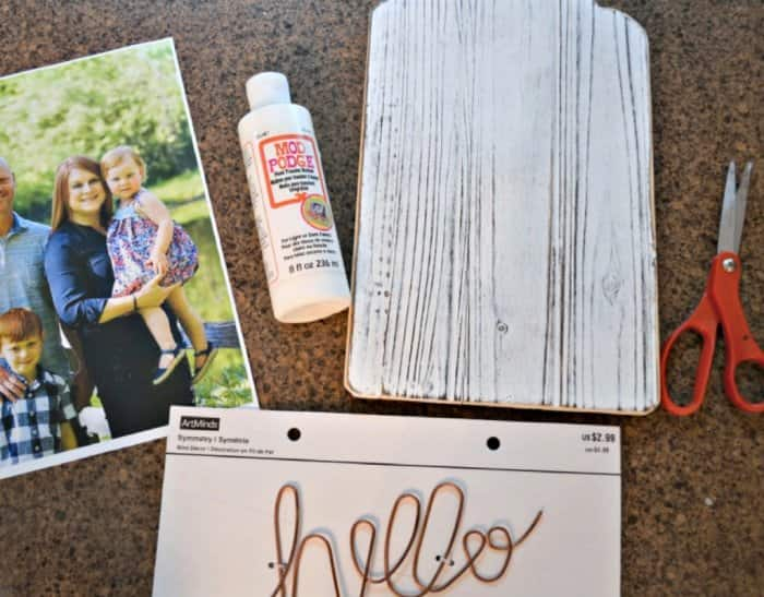 Gather all of your supplies before you begin the project. (Photo courtesy of Abbey DeHart)