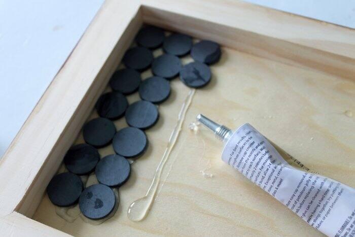 adding magnets to DIY knife rack