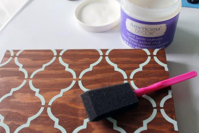 sealing DIY knife block