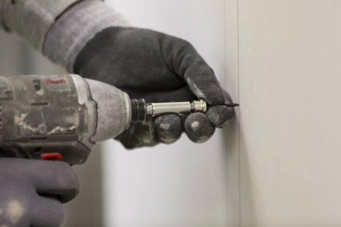 Closeup of drill