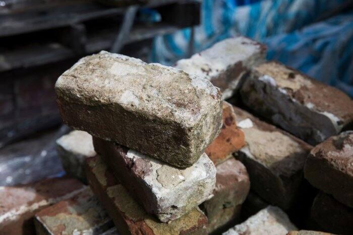 Savannah gray brick at Southern Pine Co.