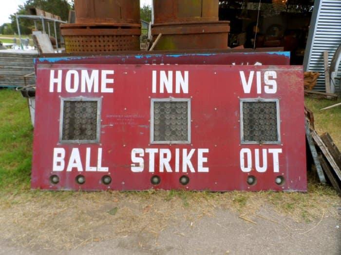 Old baseball scoreboard