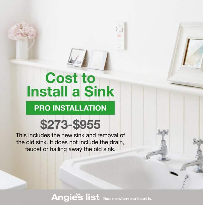 how to install a bathroom sink angi