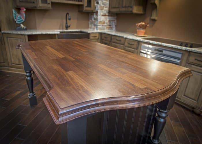 butcher block countertop kitchen island
