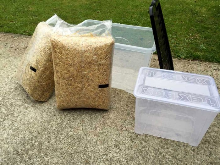 materials for DIY feral cat shelter