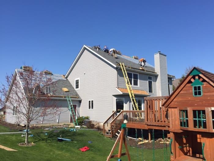 installation of new asphalt roof