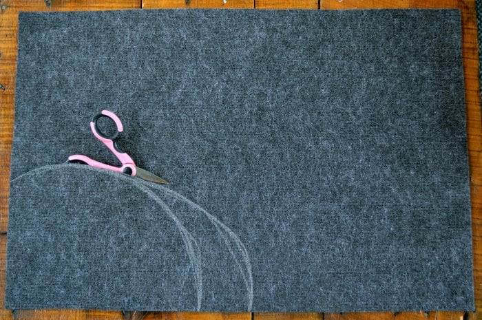 making DIY Halloween doormat