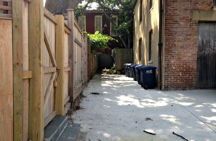 D.C. alley behind a rowhouse