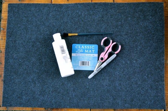 supplies for DIY Halloween doormat