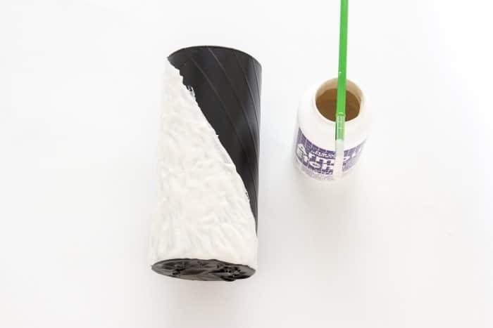 glass etching cream on vase