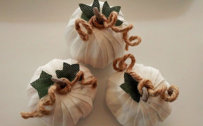 decorative fabric covered craft pumpkins