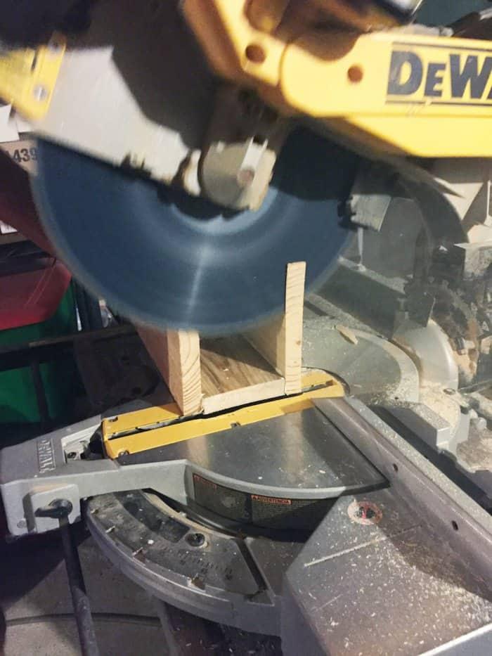 making DIY floating shelf