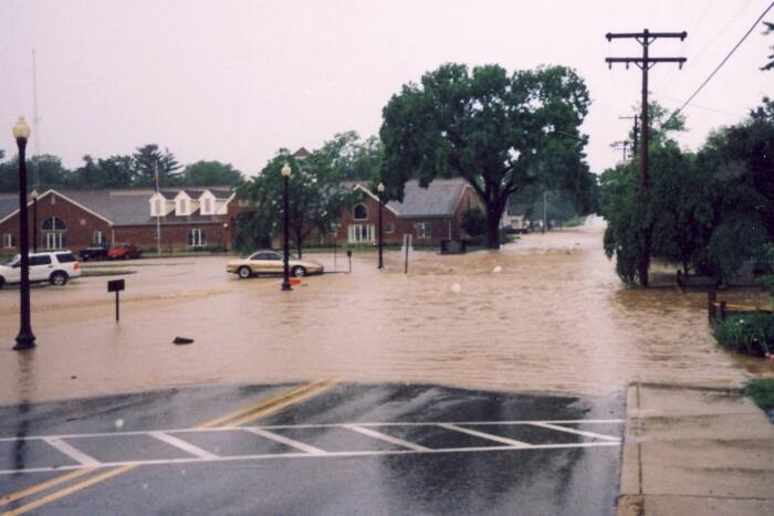 Franklin Indiana flood 2008
