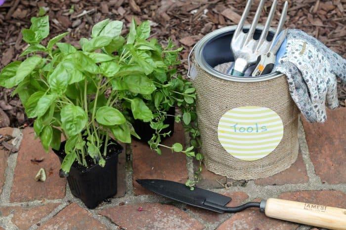 DIY garden tool tote