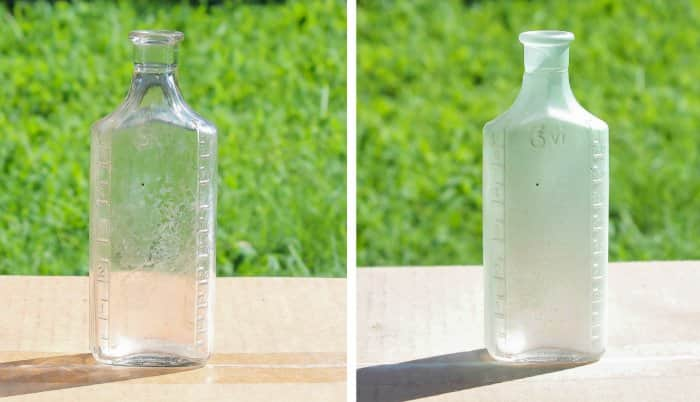 before and after vintage bottle paint
