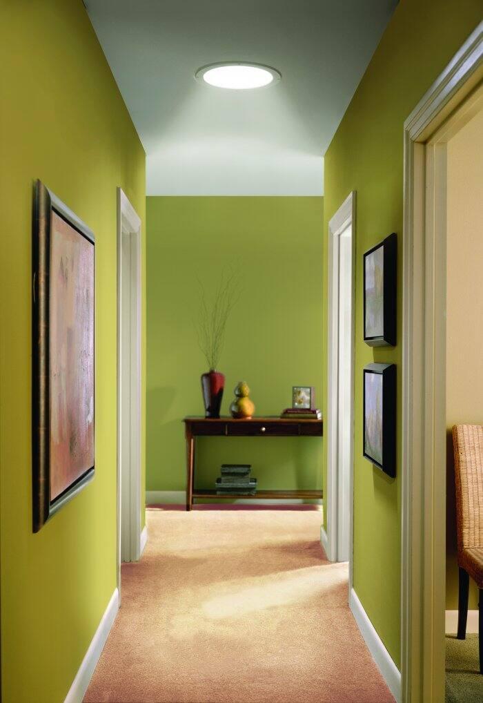 Skylight in hallway