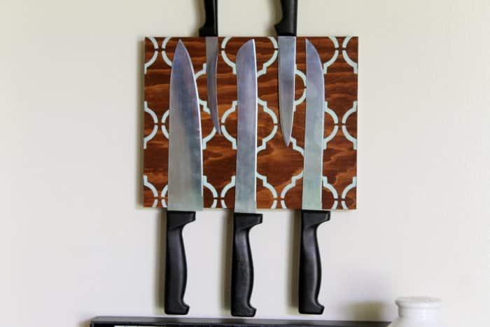DIY knife block