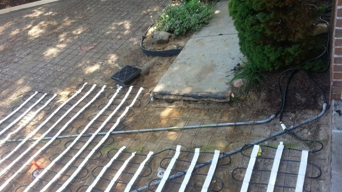 installing heated driveway coils