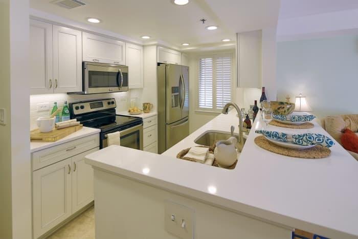 newly remodeled kitchen in Sami Kotb's home