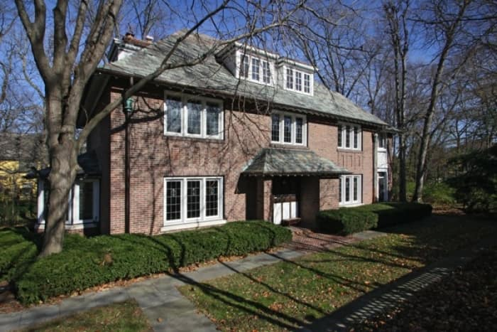 Vonnegut's boyhood home stands in the Butler-Tarkington neighborhood, on Indy's Near Northwestside. (Photo courtesy of Matt McLaughlin, F.C. Tucker Company)