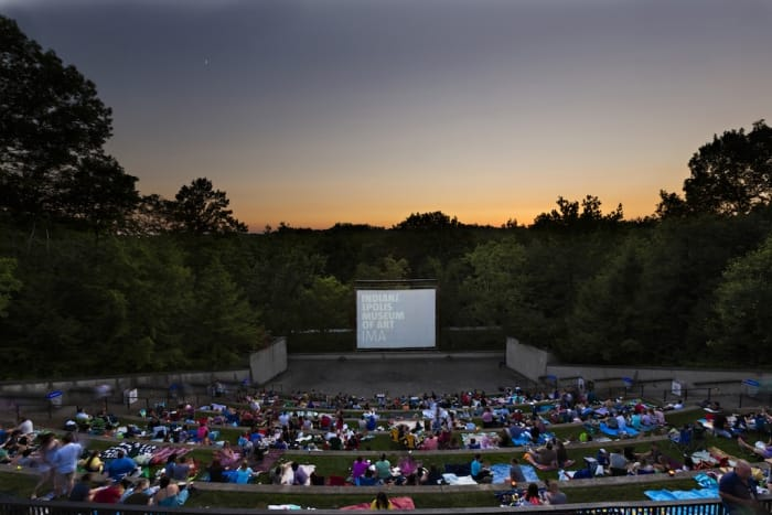 Indianapolis Museum of Art Summer Nights movies amphitheater