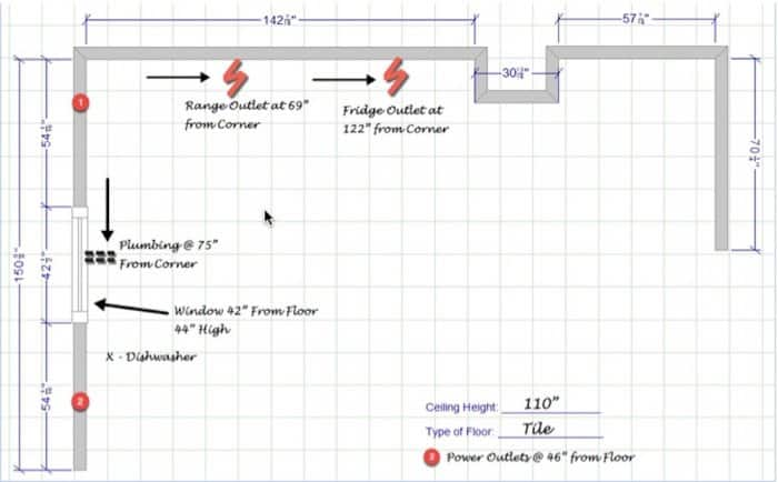 kitchen remodel blueprint