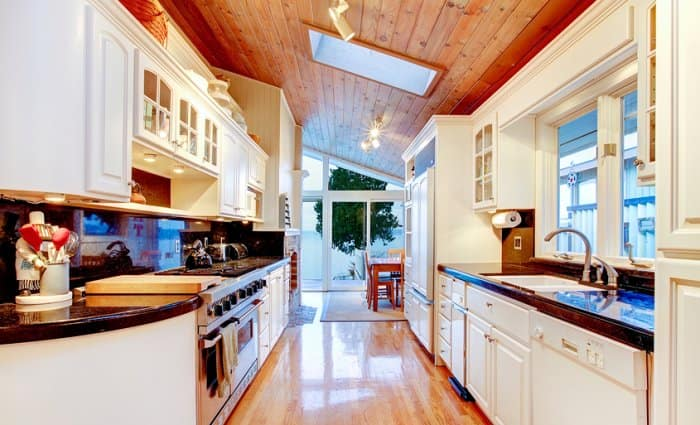 kitchen with natural light
