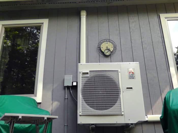 ductless heat pump outdoor condenser