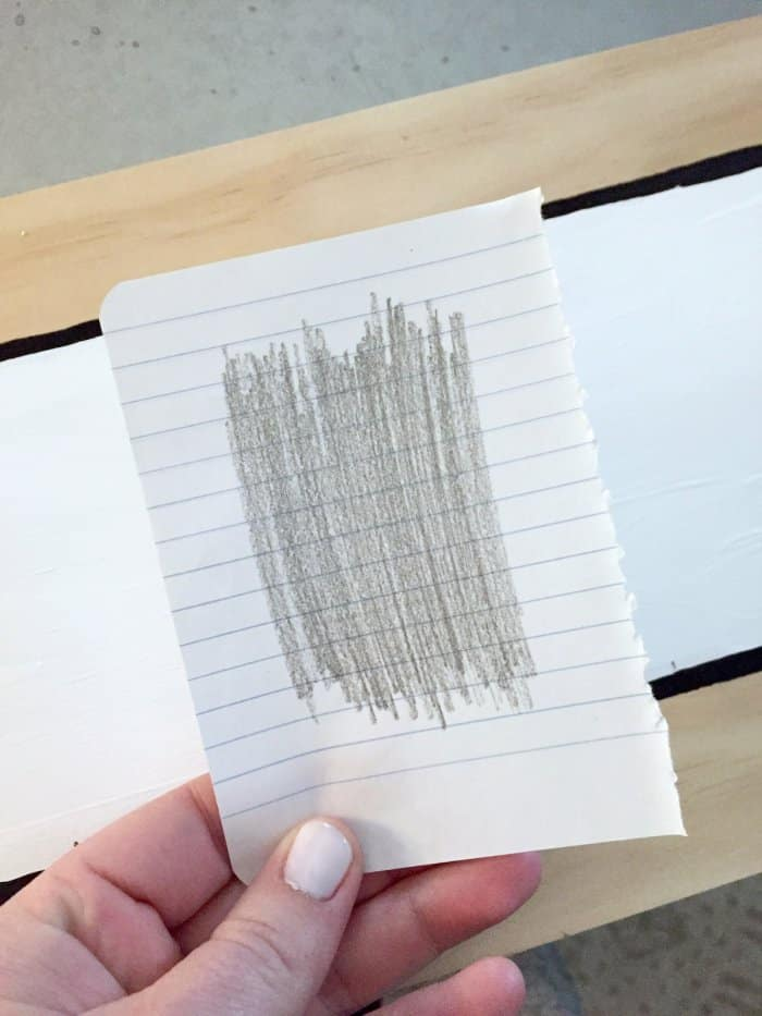 making DIY number stencils