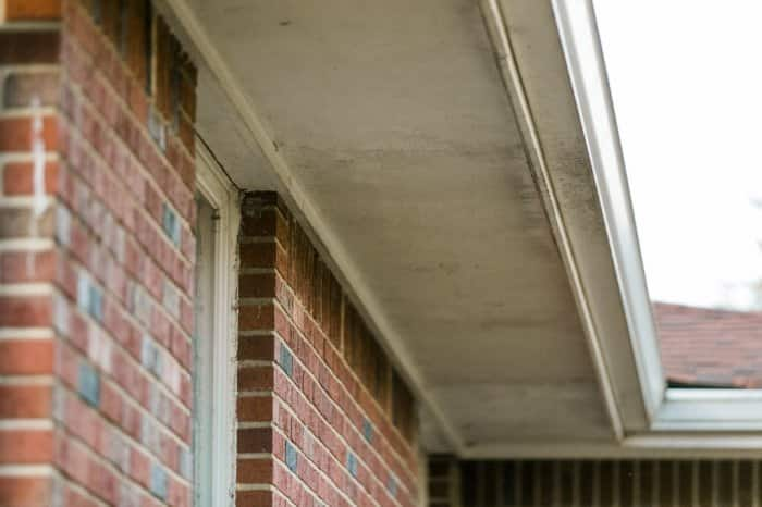 Soffit on house exterior