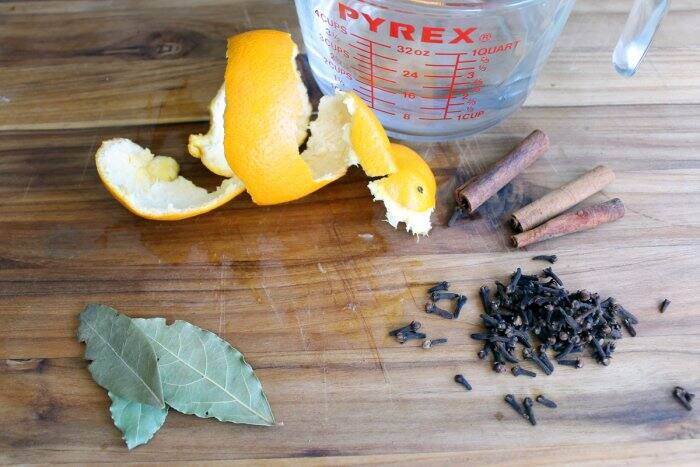 spiced orange simmer pot