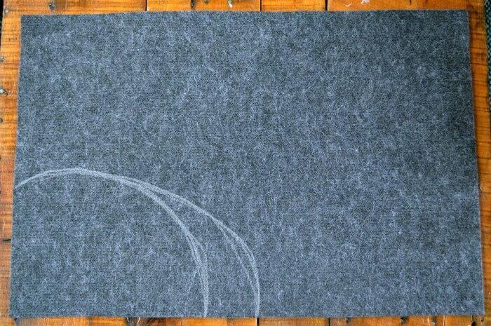 making DIY welcome mat