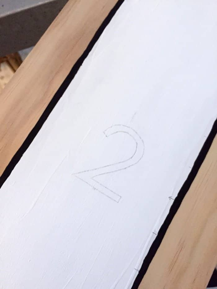 traced stencil number