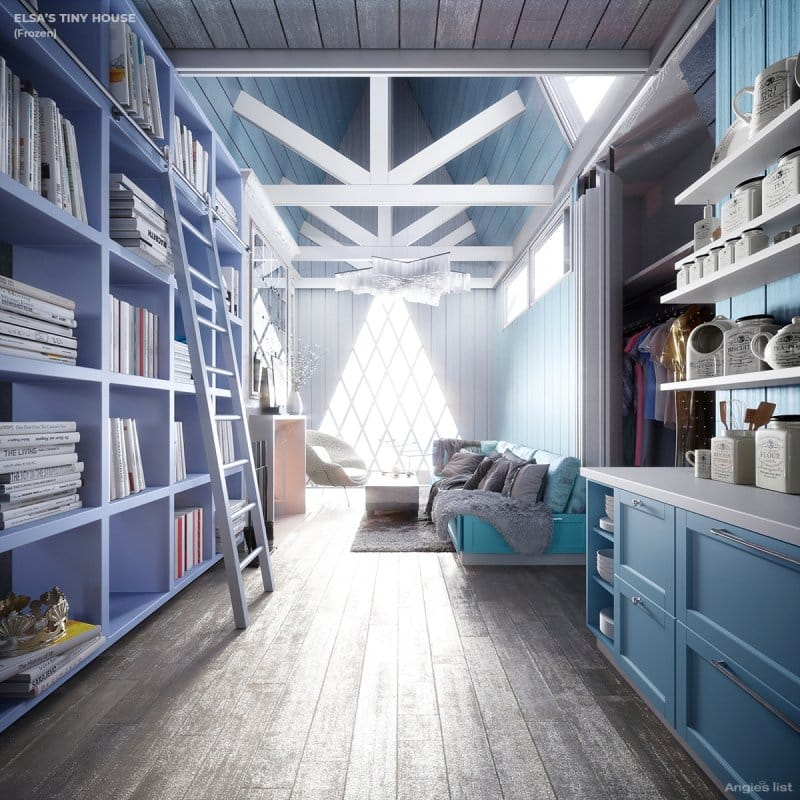 Elsa's tiny house interior