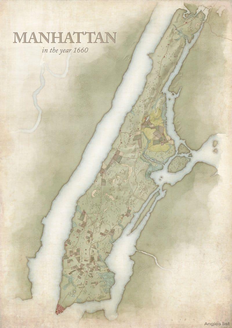 Manhattan in 1660
