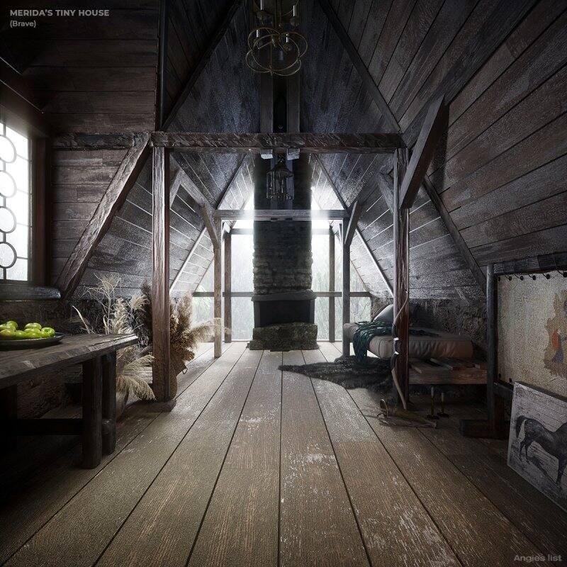 Merida's tiny house interior