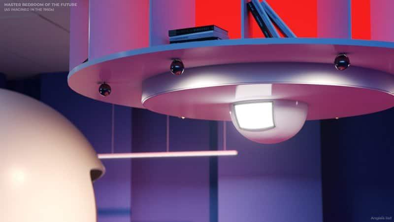 master bedroom of the future media display