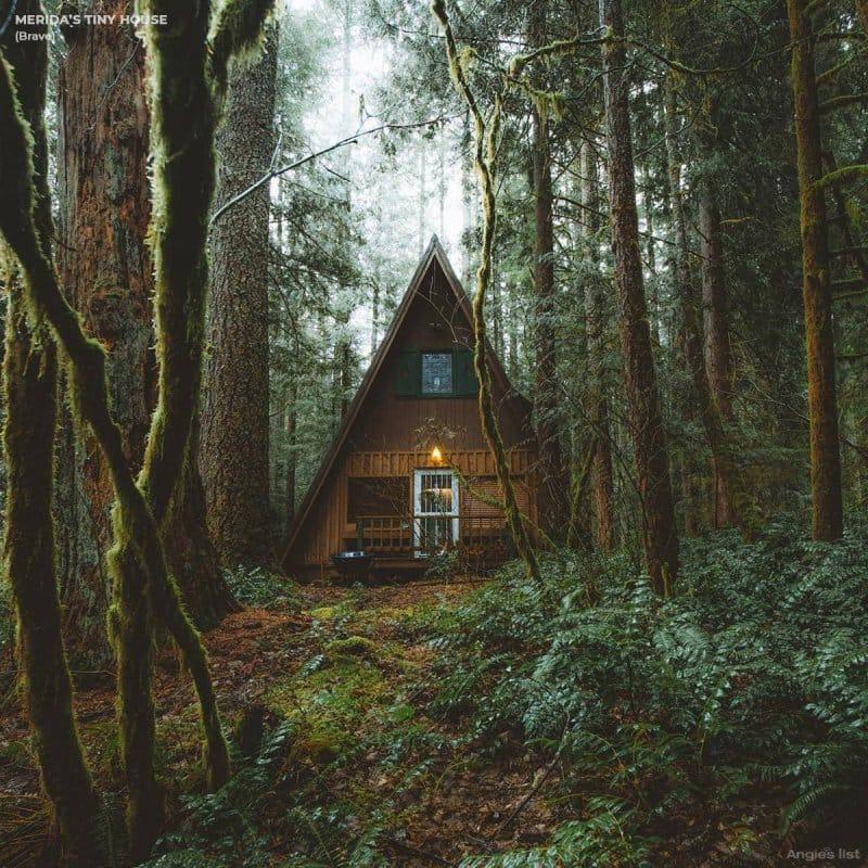 Merida's tiny house exterior