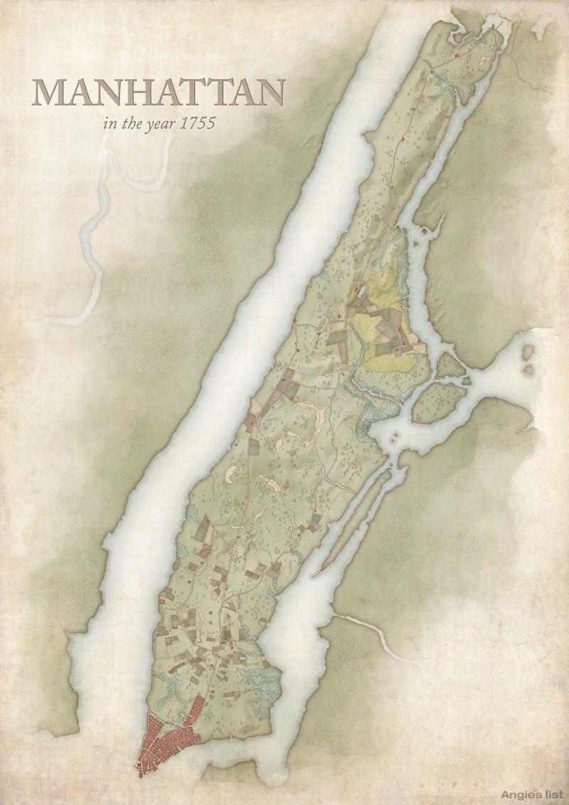 Manhattan in 1755