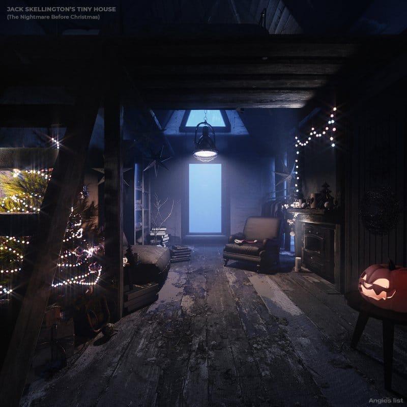 Jack's tiny house interior