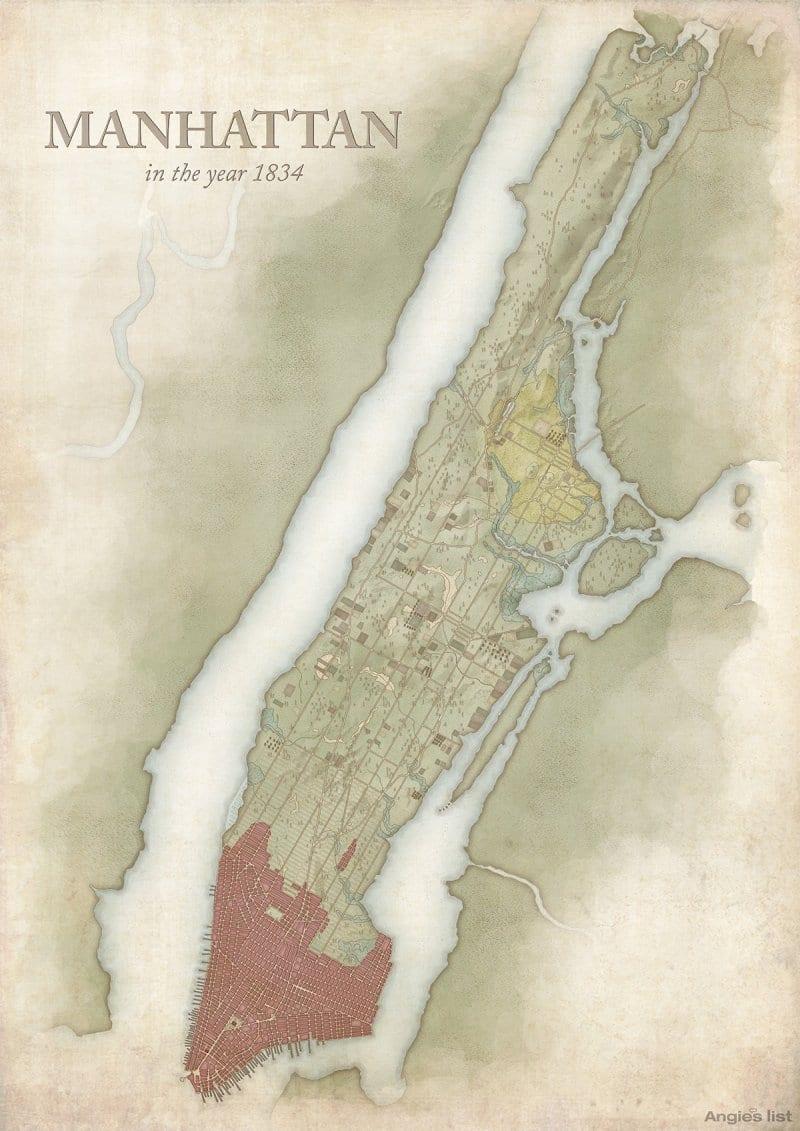 Manhattan in 1834