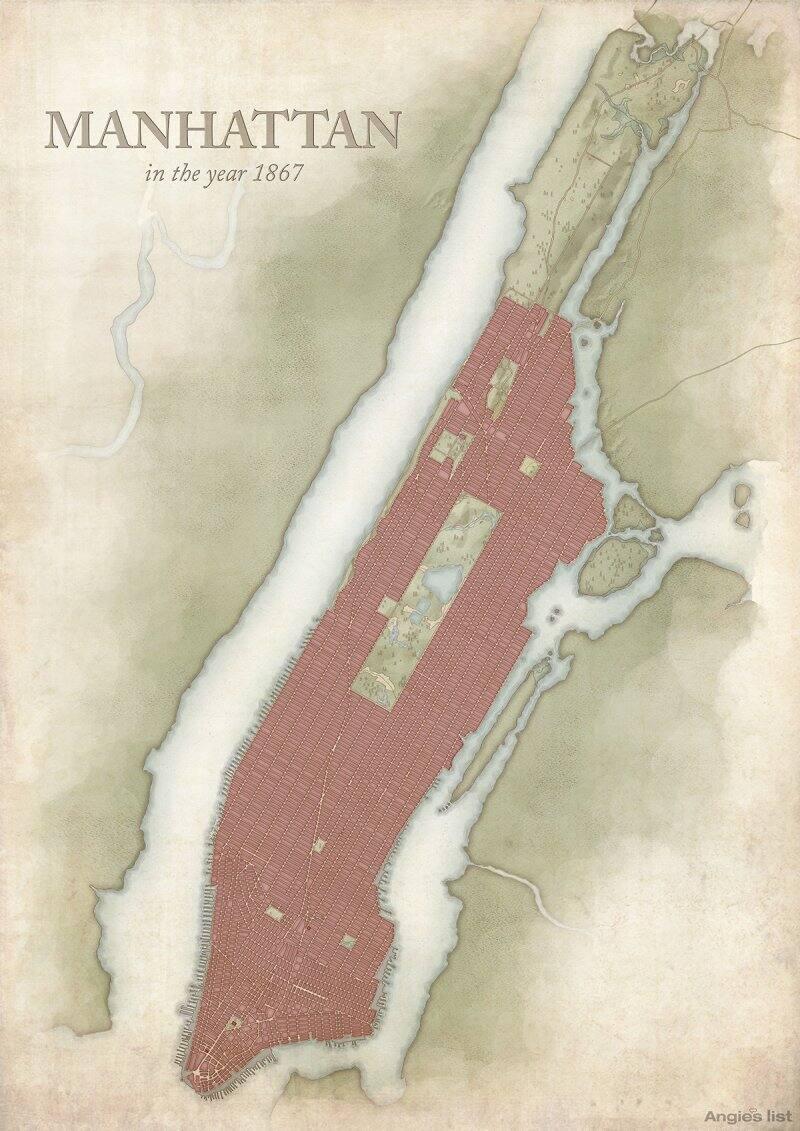 Manhattan in 1867
